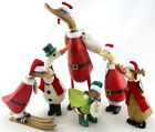 DCUK Christmas Duck Ornaments Wooden Mantlepiece Decorations Various Styles