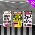 Halloween Zombie Warning Signs Decorations - Party Deco Spooky Scene Setter