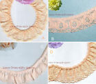 """Ruffled Lace Trim Peach 5-10 Yards Floral 1""""-1-1/2"""" 037LV Added Trims ShipFree"""