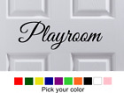 "9.5"" x 3.25"" PLAYROOM Door Wall Art Vinyl Letter Decal Decor"