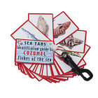 Внешний вид - Trident Waterproof Fish Identification guide Fan Deck With Swiveling Snap Hook