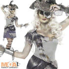 Madame Voyage + Hat Ghost Pirate Ladies Halloween Fancy Dress Womens Costume New