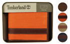 Timberland Men's Hunter Leather Waxed Canvas Credit Card ID Passcase Wallet