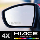 TOYOTA HIACE Wing Mirror Glass Silver Frosted Etched Car Vinyl Decal Stickers