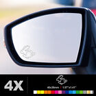 VW VOLKSWAGEN RABBIT Wing Mirror Glass Silver Frosted Etched Car Decal Stickers