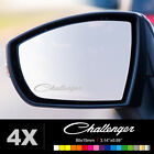DODGE CHALLENGER Wing Mirror Glass Silver Frosted Etched Car Decal Stickers