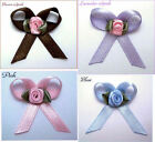BABY REBORN DOLL MAGNETIC HAIR BOW SATIN RIBBON RED PINK WHITE BLUE YELLOW PEACH