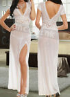 Sexy Chemise Babydoll Wedding Bridal Honeymoon Long Gowns Lingerie Dress String