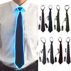 Light Up LED Flashing Striped Glowing EL Tie Necktie Men Club Cosplay Accessory
