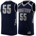 GEORGETOWN HOYAS Jersey #55 M L SEWN NWT NEW Blue Nike Authentic
