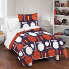 All Sports TWIN or FULL/QUEEN Navy Blue Cotton Bedding Set Kids Comforter Sheets