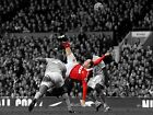 ROONEY OVERHEAD KICK FRAMED CANVAS ART PRINT A0 A1 A2