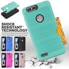 Full Cover For ZTE Blade Z Max Pro 2 /Sequoia Z982 Brushed Card Slot Hard Case