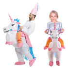 Kids Adult Inflatable Unicorn Rider Halloween Holiday Party Cosplay Costume Hot