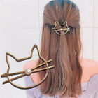 Hot! Hollow Cat Hair Clip Barrettes Girls Lovely Hair Accessary Jewelry Gift