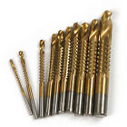 5pcs Titanium Coated Saw Drill Bit  Holesaw File, Reamer Router, Chamfer 3- 13mm