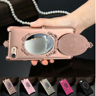 Luxury Bling Glitter Crystal Mirror Back Phone Case Cover For iPhone 7 6s Plus 5