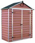 Palram Skylight Reinforced Lockable Plastic Amber Shed - Choice of Size :Argos