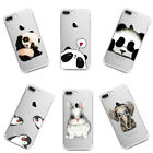 Panda Clear Rubber Pattern Soft TPU Silicone Back Case Cover for Samsung S8 S7
