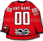 WASHINGTON CAPITALS ANY NAME  NUMBER ADIDAS HOME JERSEY AUTHENTIC PRO 100TH