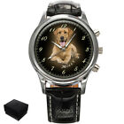 PERSONALISED, CUSTOM MENS WRIST WATCH YOUR PHOTO, PETS, DOGS,CAT,ENGRAVING