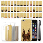 "For Apple iPhone 6s Plus 5.5"" 2nd Gen Dog Design Sparkling Gold Case Cover + Pen"