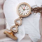 Ladies Heart Steel Crystal Nurse Doctor Paramedic Tunic Brooch Quartz FOB Watch