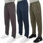 Kangol Mens Slim Cuffed Joggers Elastic Waist Zip Up Pocket Tracksuit Bottoms