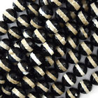 """Faceted Black White Tibetan DZI Agate Round Beads 15"""" one line 6mm 8mm 10mm 12mm"""