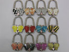 CHOICE OF STUNNING BUTTERFLY SHAPED PRETTY HANDBAG HOOK HOLDERS 2 IN 1 ACCESSORY