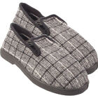 MENS CASUAL TEXTILE TARTAN  WARM SLIPPERS SLIP ON SHOES SIZE UK 7 8 9 10 11 12