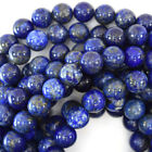 "Natural Blue Lapis Lazuli Round Beads 15"" Strand 3mm 4mm 5mm 6mm 8mm 10mm 12mm"