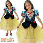 Shimmer Snow White Girls Fancy Dress Disney Fairytale Kids Childs Costume Outfit
