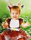Baby Girls REINDEER Christmas Party Dress Antlers Rudolph 6 12 18 Months NEW
