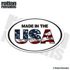 Made in the USA Oval Decal American Flag United States Gloss Sticker HGV