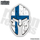 Finland Flag Spartan Helmet Decal Finnish Nordic Gloss Sticker HGV