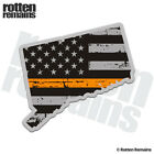 Connecticut State Thin Orange Line Decal CT USA Subdued Flag Gloss Sticker HGV