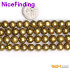 """8-9mm Round Freshwater Cultured Pearl Stone Beads For Jewelry Making String 15"""""""