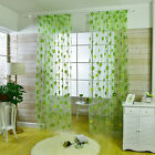 New Light Green Sheer Curtains Living Room Floral Curtains Window Decoration HU