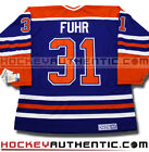 GRANT FUHR EDMONTON OILERS CCM VINTAGE AWAY JERSEY BLUE NHL HOCKEY