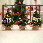 Desktop Mini Christmas Tree with christmas tree decorations hanging ornaments HF