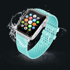 Sports Silicone Rubber Wrist Band Bracelet+Air Hole For Apple Watch iwatch 1 2 3