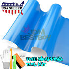 *Premium Gloss Glossy Sky Blue Car Vinyl Wrap Sticker Decal Air Release Bubble
