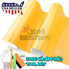 *Premium Gloss Glossy Yellow Car Vinyl Wrap Sticker Decal Air Release Bubble