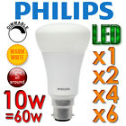 10W DIMMABLE PHILIPS MASTER LED BULB LIGHT GLS WARM WHITE 2700K BC B22 BAYONET