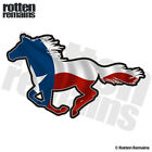 Texas Horse Decal TX State Flag Texan Pony Mustang Gloss Sticker (LH) HGV