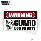 Guard Dog on Duty Warning Decal Dogs Protection Gloss Sticker V2 HGV