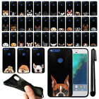 "For Google Pixel 5"" HTC Dog Design TPU Black SILICONE Soft Case Cover + Pen"