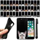 "For Apple iPhone 8 Plus/ 7 Plus 5.5"" Cat Design Black SILICONE Case Cover + Pen"