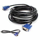 VGA Cable 15 Pin VGA SVGA Male to Male D-Sub Cable Lead for PC Monitor Projector